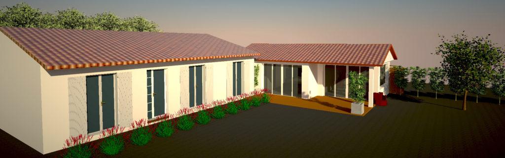Extension : une chambre parentale et un jardin d'hiver
