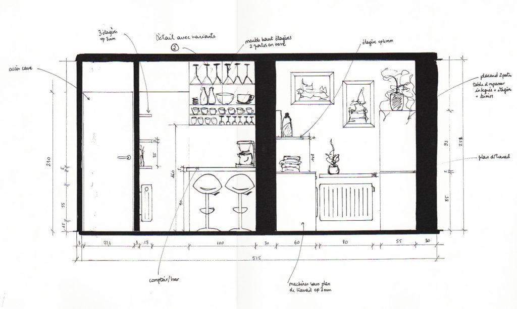 Restructuration : Salon-Séjour et cuisine
