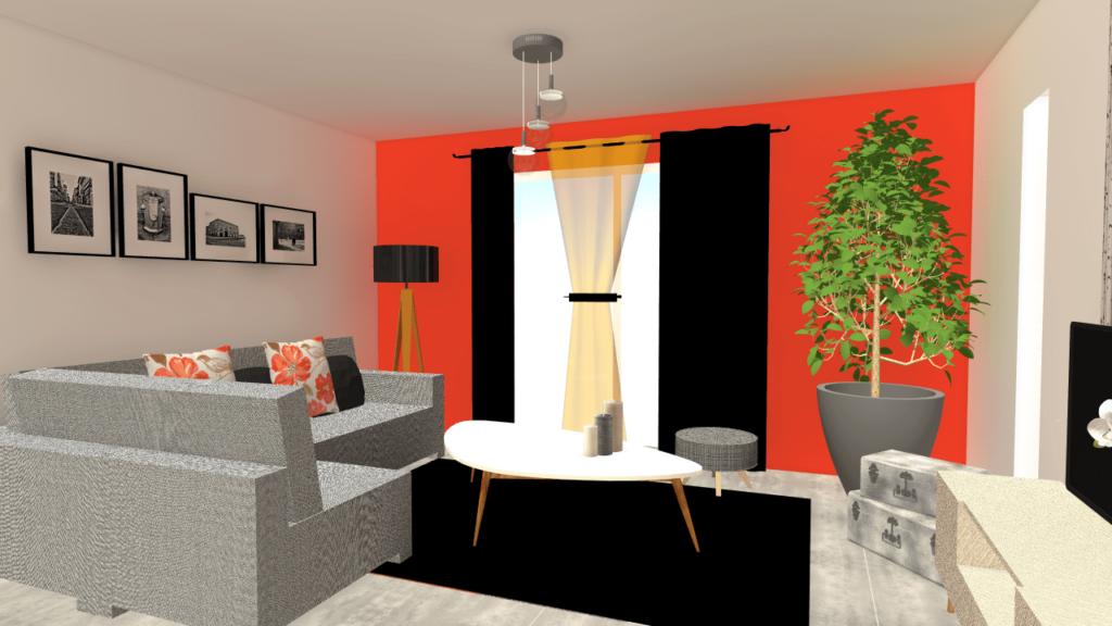 Avec le dessin en 3d vous imaginez facilement votre future for Plan sejour salon