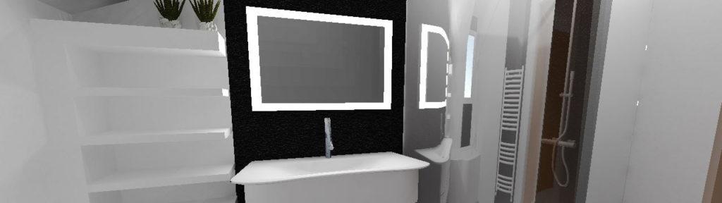 Salle de Bain : rénovation, une salle de bain contemporaine