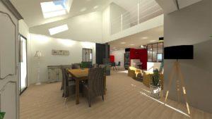 Aménagement d'une maison sur plan