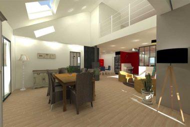 Conseil et accompagnement pour le choix des matériaux, du mobilier pour un projet de construction d'une maison de 200m2 a Saint-Nazaire