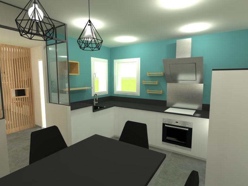Peinture et décoration d'une cuisine