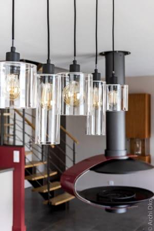Luminaires de la salle à manger