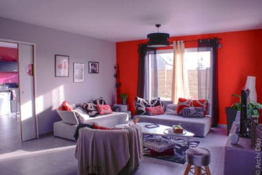 Conseil en colorimétrie et décoration intérieur pour un salon