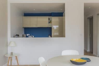 Architecture et décoration d'intérieur dans un appartement à La Baule